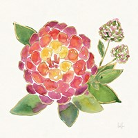 Tropical Fun Flowers II with Gold Fine Art Print