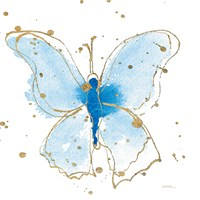 Gilded Butterflies V Fine Art Print