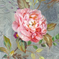 Peonies and Paisley II Fine Art Print