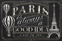 Vive Paris I Framed Print