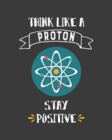 Think Like A Proton Gray Fine Art Print
