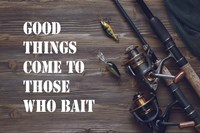 Good Things Come To Those Who Bait - Brown Framed Print