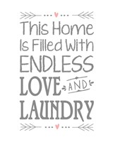 Endless Love and Laundry - White Fine Art Print