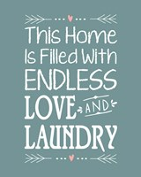 Endless Love and Laundry - Blue Fine Art Print