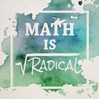 Math Is Radical Watercolor Splash Green Fine Art Print
