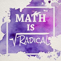 Math Is Radical Watercolor Splash Purple Fine Art Print