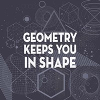 Geometry Keeps You In Shape Dark Pattern Fine Art Print