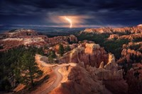 Lightning Over Bryce Canyon Fine Art Print