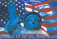 Proud to Be an American Wall Poster