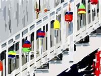Vibrant Buoys IV Fine Art Print