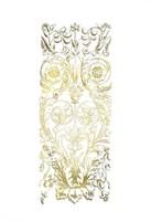 Gold Foil Renaissance Panel II Fine Art Print