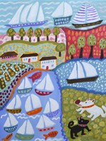 Dogs & Sailboats Fine Art Print