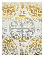 Tapestry Rosette I Fine Art Print