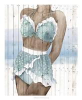 Bygone Bathers I Fine Art Print