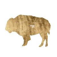 Brushed Gold Animals I Framed Print