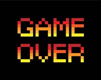 Game Over  - Red Fine Art Print
