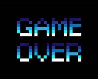 Game Over  - Blue Fine Art Print