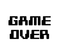 Game Over  - White Fine Art Print
