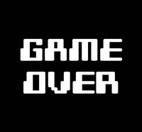 Game Over  - Black Fine Art Print