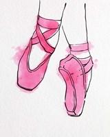 Ballet Shoes En Pointe Pink Watercolor Part II Framed Print