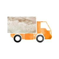 Truck With Paint Texture - Part III Framed Print