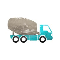 Truck With Paint Texture - Part IV Fine Art Print
