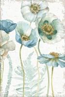 My Greenhouse Flowers I Crop on Wood Fine Art Print
