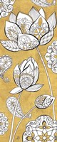 Color my World Lotus II Gold Fine Art Print