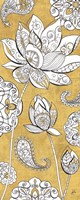 Color my World Lotus III Gold Fine Art Print