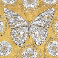 Color my World Butterfly I Gold Fine Art Print