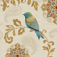 Bird Rainbow Blue and Yellow Fine Art Print