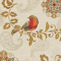 Bird Rainbow Red Framed Print