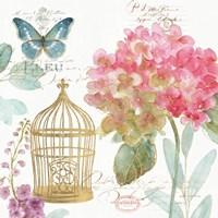 Rainbow Seeds Floral Birdcage II Fine Art Print