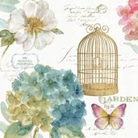 Rainbow Seeds Floral Birdcage III Fine Art Print