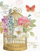 Rainbow Seeds Romantic Birdcage II Fine Art Print
