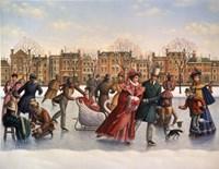 Victorian Skaters Fine Art Print