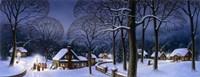 Winter Scene Carollers Fine Art Print