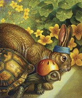 Tortoise And Hare Fine Art Print