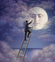 Man With Moon Fine Art Print
