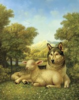 Wolf Lies Down With The Lamb Fine Art Print