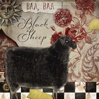 Baa Baa Black Sheep Fine Art Print