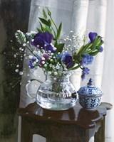Fiori Blu e Sgabello Fine Art Print
