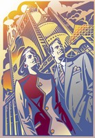 Architectural Business Couple Fine Art Print
