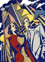 Business Couple Fine Art Print