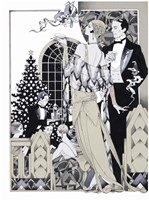 Deco Christmas Fine Art Print