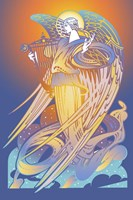 New Angel With Harp Fine Art Print