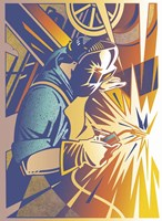 Welder's Spark Fine Art Print