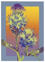 Blue Thistle Fine Art Print