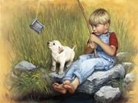 Fishing Blues Fine Art Print