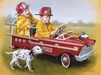 1959 Murray Fire Truck Framed Print